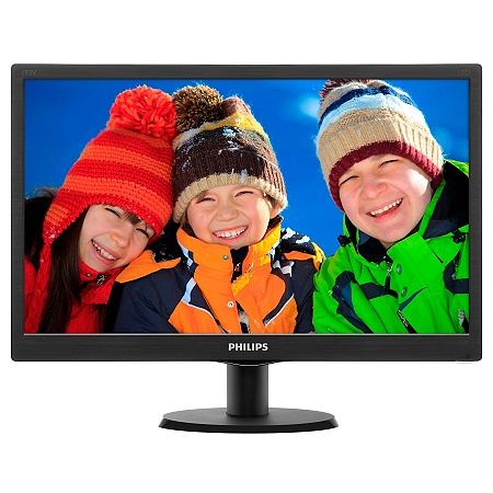 "Philips 193V5LSB2/10, 18.5"" LED Wide, 1366x768, Negru"