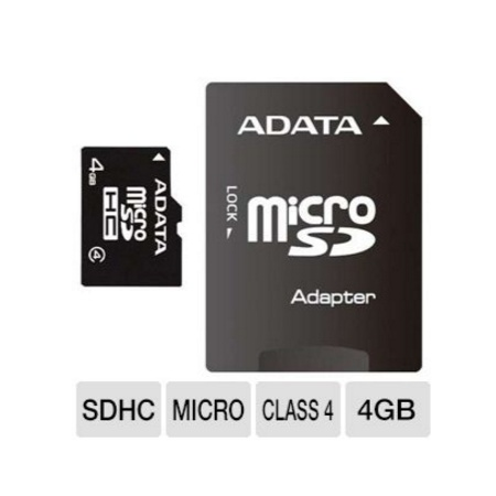 ADATA Flash Memory Card Micro SDHC 4GB Clasa 4