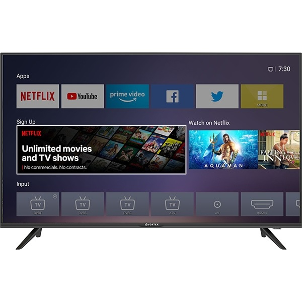 Vortex UHDV43ESLN86S, SMART TV LED, Ultra HD 4K, 109 cm, resigilat
