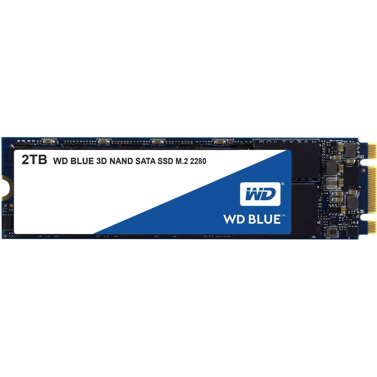 Western Digital SSD, Blue, 2TB, M2 2280, SATA3 6 GB/s, R/W speed: up to 560MBs/530MBs