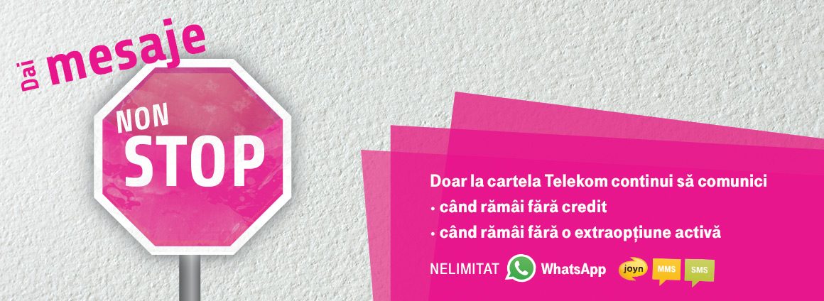 Doar la cartela Telekom continui sa comunici cand ramai fara credit sau extraoptiune activa