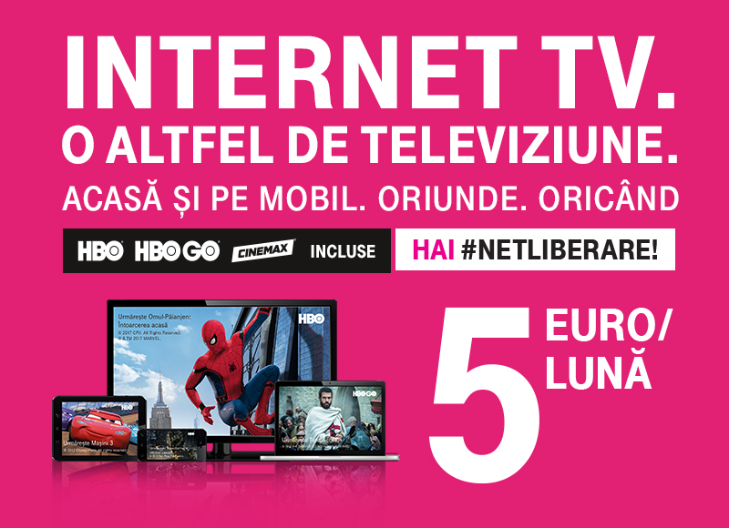 Ia-ti Internet TV de la Telekom in pachet promo si ai 50% reducere in primele 6 luni si cadou la abonare
