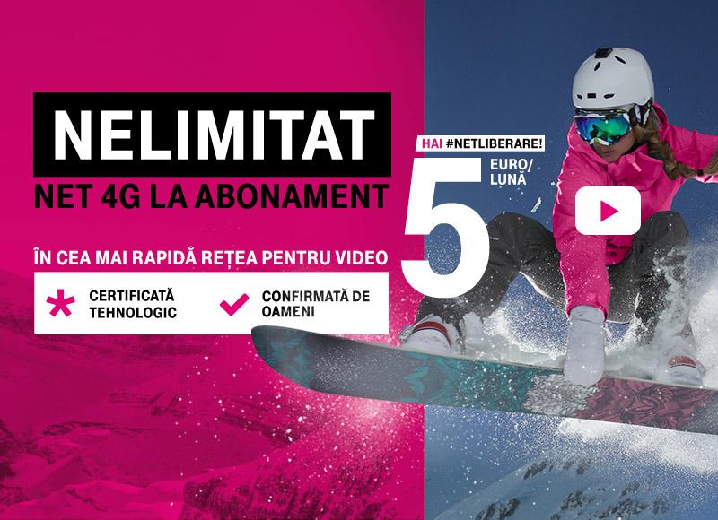 Alege oferta Telekom pentru servicii Mobil + Internet + Tv si primesti cadou tableta sau TV cu net 4G nelimitat