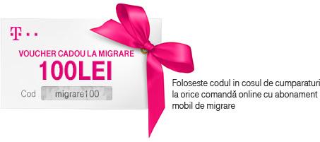 Voucher cadou la migrare 100 lei
